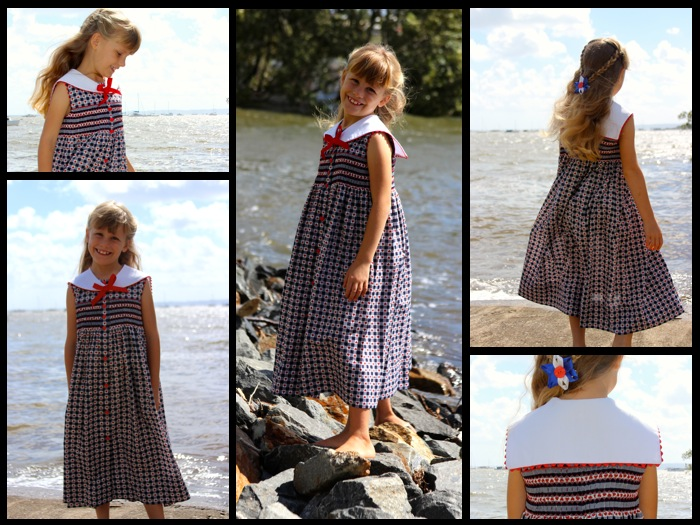 Holly Sailor Dress Collage