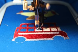 machine embroidery cars
