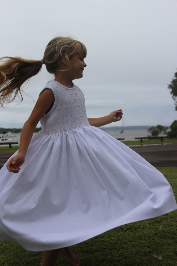 White smocked dress 7