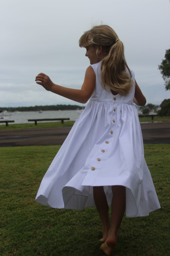 White smocked dress 8