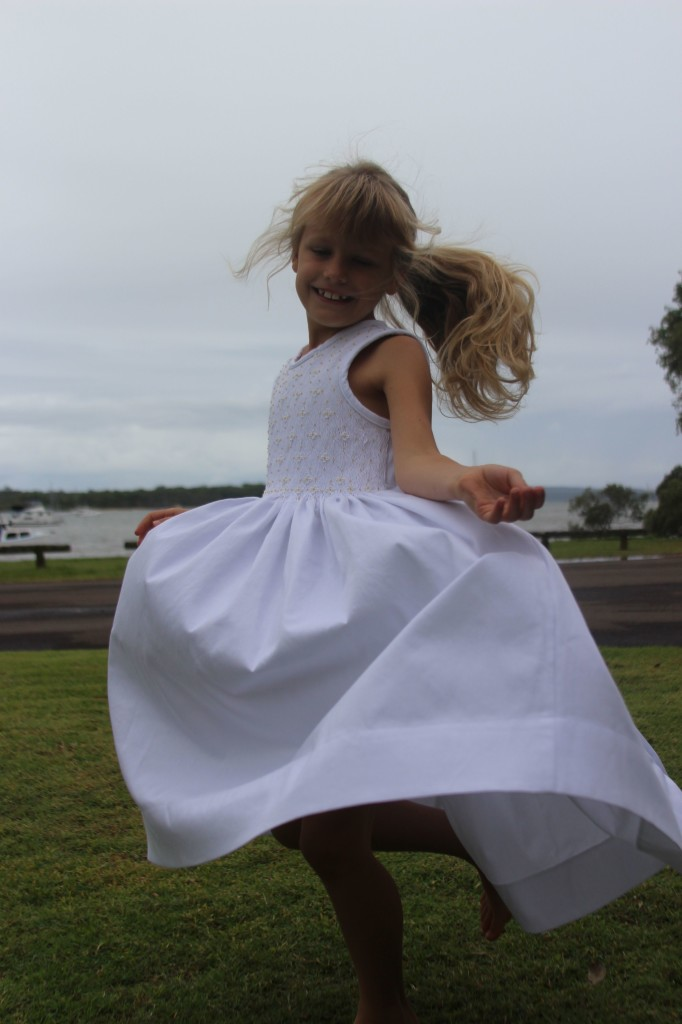 White smocked dress 9