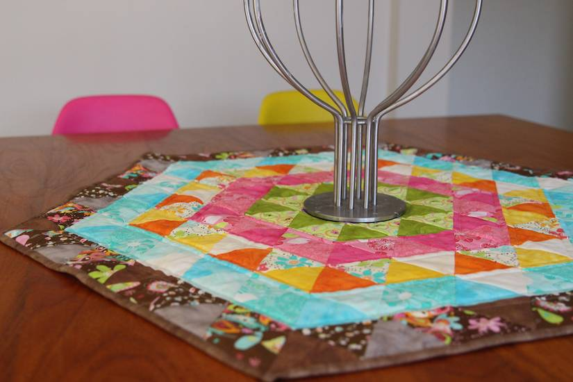 Bright Hexagon Quilt 018